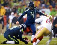 Steven Hauschka Autographed 16x20 Photo Seattle Seahawks MCS Holo Stock #71459