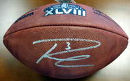 Sale!! Russell Wilson Autographed Super Bowl Leather Football Seattle Seahawks RW Holo Stock #72352