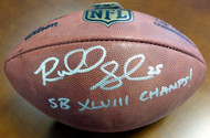 """Sale!! Richard Sherman Autographed Official NFL Leather Football Seattle Seahawks """"SB XLVIII Champs!"""" RS Holo Stock #72435"""