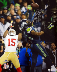 "Richard Sherman Autographed 16x20 Photo Seattle Seahawks ""The Tip 1/19/14"" RS Holo Stock #72451"