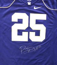 Washington Huskies Bishop Sankey Autographed Purple Nike Jersey Size L MCS Holo Stock #73078
