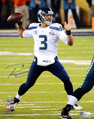 Russell Wilson Autographed 16x20 Photo Seattle Seahawks Super Bowl RW Holo Stock #74641