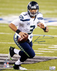 Russell Wilson Autographed 16x20 Photo Seattle Seahawks Super Bowl RW Holo Stock #74642