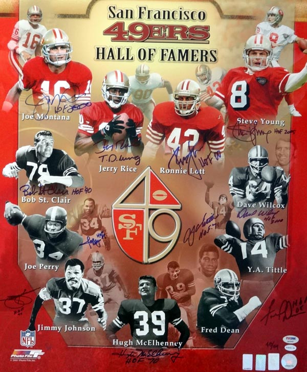 b021482f6 San Francisco 49ers Hall of Famers Autographed 20x24 Photo