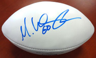Max Unger Autographed White Super Bowl Logo Football Seattle Seahawks MCS Holo Stock #76377