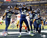 Richard Sherman Autographed 16x20 Photo Seattle Seahawks RS Holo Stock #77875