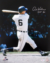 "Al Kaline Autographed 16x20 Photo Detroit Tigers ""HOF 80"" PSA/DNA Stock #79715"