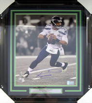 Russell Wilson Autographed Framed 16x20 Photo Seattle Seahawks Super Bowl RW Holo Stock #80882
