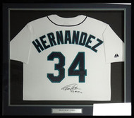 "Seattle Mariners Felix Hernandez Autographed Framed White Majestic Jersey ""PG 8-15-12"" PSA/DNA Stock #83094"