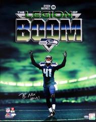 Byron Maxwell Autographed 16x20 Photo Seattle Seahawks Legion of Boom MCS Holo Stock #85550