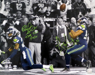 "Richard Sherman & Malcolm Smith Autographed 16x20 Photo Seattle Seahawks ""The Tip 1/19/14"" RS Holo & MCS Holo Stock #85973"