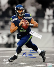 Russell Wilson Autographed 16x20 Photo Seattle Seahawks RW Holo Stock #85980