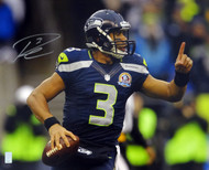 Russell Wilson Autographed 16x20 Photo Seattle Seahawks RW Holo Stock #88006
