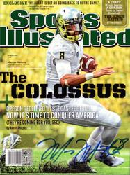 Marcus Mariota Autographed Sports Illustrated Magazine Oregon Ducks MM Holo Stock #89202