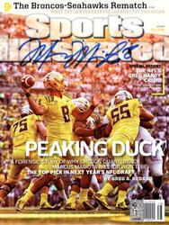 Marcus Mariota Autographed Sports Illustrated Magazine Oregon Ducks MM Holo Stock #89203