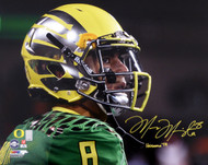 "Marcus Mariota Autographed 16x20 Photo Oregon Ducks ""Heisman '14"" MM Holo Stock #89882"