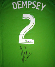 Sale!! Seattle Sounders Clint Dempsey Autographed Green Adidas Jersey Size XL PSA/DNA ITP Stock #89896