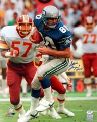 "Steve Largent Autographed 16x20 Photo Seattle Seahawks ""HOF 95"" PSA/DNA ITP Stock #89903"