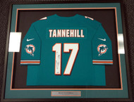 Sale!! Miami Dolphins Ryan Tannehill Autographed Framed Teal Nike Jersey PSA/DNA Stock #90504