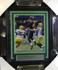 Sale!! Chris Matthews Autographed Framed 8x10 Photo Seattle Seahawks The Recovery MCS Holo Stock #90588