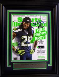 Richard Sherman Autographed Seattle Seahawks Framed Sports Illustrated Magazine RS Holo Stock #90590