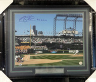"Felix Hernandez Autographed Framed 16x20 Photo Seattle Mariners ""P.G. 8-15-12"" Perfect Game PSA/DNA Stock #90612"