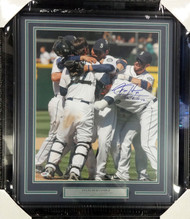 "Felix Hernandez Autographed Framed 16x20 Photo Seattle Mariners ""P.G. 8-15-12"" Perfect Game PSA/DNA Stock #90614"