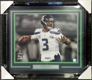 Russell Wilson Autographed Framed 16x20 Photo Seattle Seahawks Super Bowl RW Holo Stock #90708