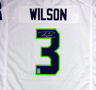 Seattle Seahawks Russell Wilson Autographed White Nike Jersey Size XXL RW Holo Stock #90930
