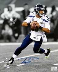 Russell Wilson Autographed 16x20 Photo Seattle Seahawks Super Bowl RW Holo Stock #91023