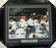 "Felix Hernandez Autographed Framed 16x20 Photo Seattle Mariners ""P.G. 8-15-12"" Perfect Game PSA/DNA Stock #94161"