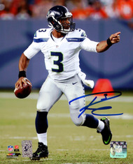 Russell Wilson Autographed 8x10 Photo Seattle Seahawks RW Holo Stock #94276