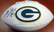 Eddie Lacy Autographed White Logo Football Green Bay Packers PSA/DNA Stock #94309