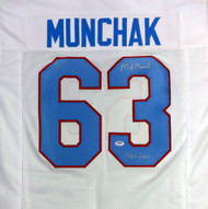 "Houston Oilers Mike Munchak Autographed White Jersey ""HOF 2001"" PSA/DNA Stock #94446"