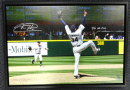 "Felix Hernandez Autographed Framed 20x30 Canvas Photo Seattle Mariners ""PG 8-15-12"" #/50 MCS Holo Stock #94465"