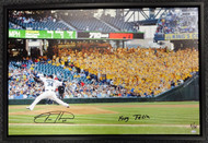 "Felix Hernandez Autographed Framed 20x30 Canvas Photo Seattle Mariners ""King Felix"" #/34 MCS Holo Stock #94466"