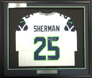 Sale!! Seattle Seahawks Richard Sherman Autographed Framed White Nike Jersey RS Holo Stock #97703