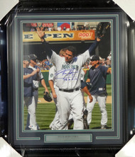 "Felix Hernandez Autographed Framed 16x20 Photo Seattle Mariners ""P.G. 8-15-12"" Perfect Game PSA/DNA Stock #98089"
