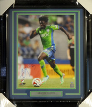 Obafemi Martins Autographed Framed 16x20 Photo Seattle Sounders MCS Holo Stock #98091