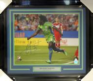 Obafemi Martins Autographed Framed 16x20 Photo Seattle Sounders MCS Holo Stock #98092