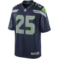 Richard Sherman Unsigned Seattle Seahawks Blue Nike Twill Jersey Size XL Stock #99186