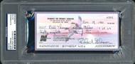Bob Gibson Autographed Check St. Louis Cardinals PSA/DNA Stock #99217