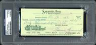 Sale!! Heinie Manush Autographed Check Detroit Tigers PSA/DNA Stock #99220