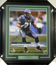 Walter Jones Autographed Framed 16x20 Photo Seattle Seahawks MCS Holo Stock #99724