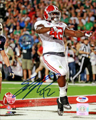 Eddie Lacy Autographed 8x10 Photo Alabama Crimson Tide In Blue PSA/DNA Stock #103160