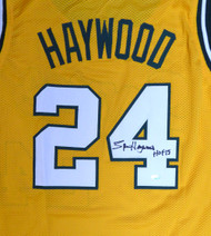 "Seattle Sonics Spencer Haywood Autographed Gold Jersey ""HOF 15"" MCS Holo Stock #104222"