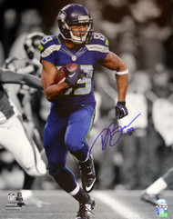 Doug Baldwin Autographed 16x20 Photo Seattle Seahawks In Blue MCS Holo Stock #104873