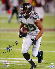 Doug Baldwin Autographed 16x20 Photo Seattle Seahawks In Blue MCS Holo Stock #104874