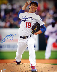 Kenta Maeda Autographed 16x20 Photo Los Angeles Dodgers MLB Holo Stock #104877
