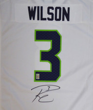 Seattle Seahawks Russell Wilson Autographed White Nike Jersey Size XXL RW Holo Stock #105024
